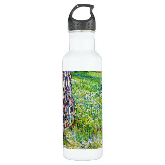Pine Trees and Dandelions in the Garden Van Gogh Stainless Steel Water Bottle