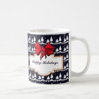 Pine Trees and Snow Happy Holidays Coffee Mug