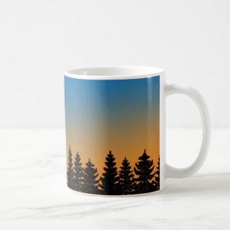 Pine Trees and Sunset Sky | Pine Forest | Coffee Mug