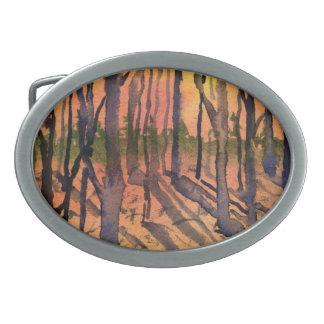 Pine Trees Belt Buckle