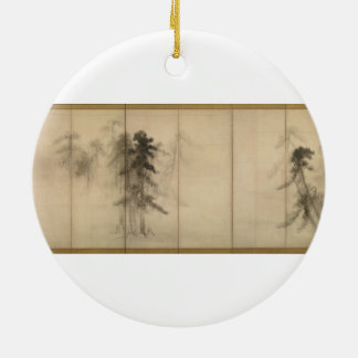 Pine Trees by Hasegawa Tohaku 16th Century Ceramic Ornament