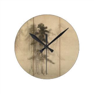 Pine Trees by Hasegawa Tohaku 16th Century Round Clocks