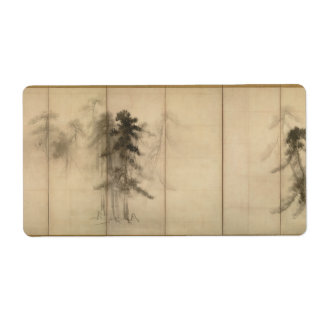 Pine Trees by Hasegawa Tohaku 16th Century Custom Shipping Labels