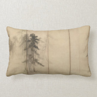 Pine Trees by Hasegawa Tohaku 16th Century Lumbar Pillow