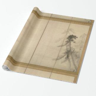 Pine Trees by Hasegawa Tohaku 16th Century Wrapping Paper