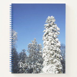 Pine Trees Covered in Snow Notebook
