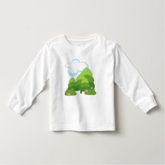Pine Trees, Flowers & Clouds Forest Shirt