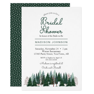 Pine Trees Forest | Bridal Shower | Invitation