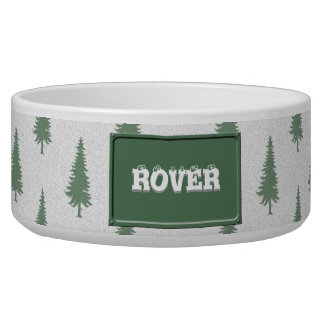 Pine trees in winter bowl