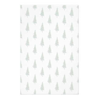 Pine trees in winter stationery