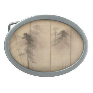 Pine Trees Left Hand Screen by Hasegawa Tohaku Belt Buckle