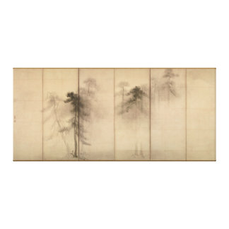 Pine Trees Left Hand Screen by Hasegawa Tohaku Canvas Print