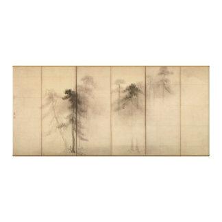 Pine Trees Left Hand Screen by Hasegawa Tohaku Canvas Print