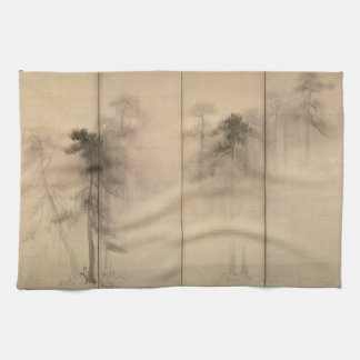 Pine Trees Left Hand Screen by Hasegawa Tohaku Kitchen Towels