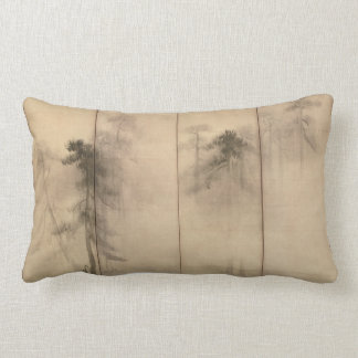 Pine Trees Left Hand Screen by Hasegawa Tohaku Lumbar Pillow