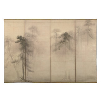 Pine Trees Left Hand Screen by Hasegawa Tohaku Placemats