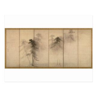Pine Trees Left Hand Screen by Hasegawa Tohaku Post Cards