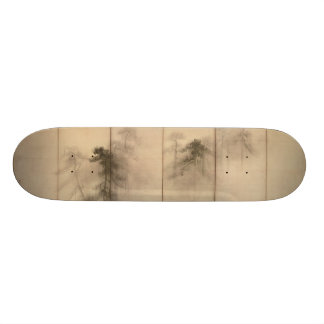 Pine Trees Left Hand Screen by Hasegawa Tohaku Skateboard Deck