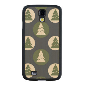 Pine Trees Ornament Carved® Maple Galaxy S4 Slim Case