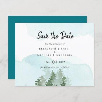 Pine Trees Teal and Sage Wedding
