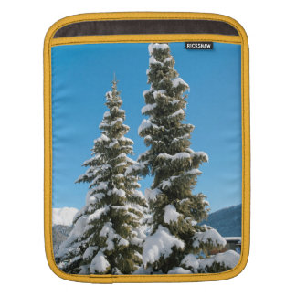 Pine trees under the Snow Sleeve For iPads