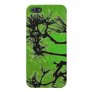 Pine trees , with fresh green tea colors iPhone 5 covers