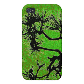 Pine trees , with fresh green tea colors iPhone 4 cases