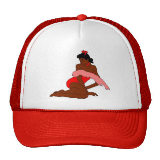 pine up red black trucker hat