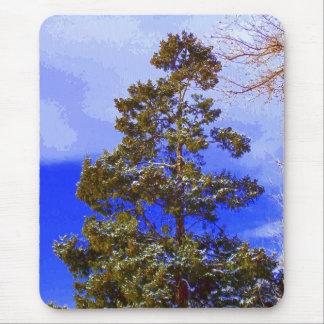 Pine with Pixelated Sky mousepad