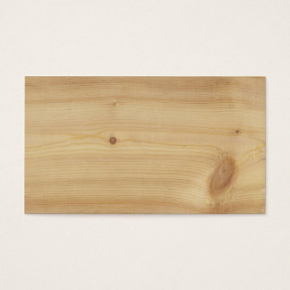 Pine Wood Background Business Card