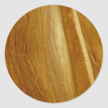 Pine Wood II Abstract Natural Tree Look Design Classic Round Sticker