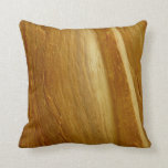 Pine Wood II Abstract Natural Tree Look Design Pillow