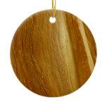 Pine Wood II Faux Wooden Texture Ceramic Ornament