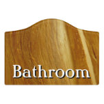 Pine Wood II Faux Wooden Texture Door Sign