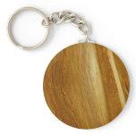 Pine Wood II Faux Wooden Texture Keychain