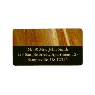 Pine Wood II Faux Wooden Texture Label