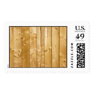 Pine Wood Postage Stamps