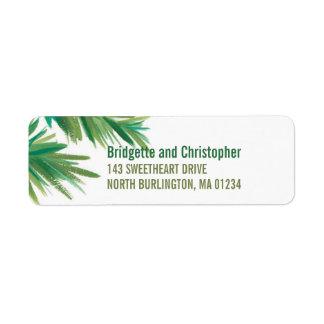 Pine Woods Watercolor | Return Label