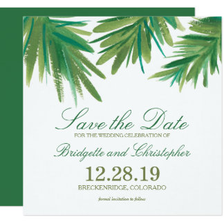 Pine Woods Watercolor | Save the Date Card