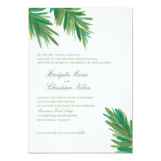Pine Woods Watercolor | Wedding Card