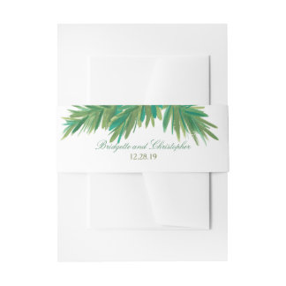 Pine Woods Watercolor | Wedding Invitation Belly Band