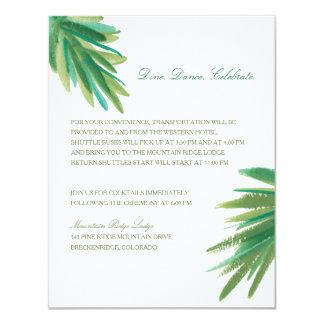 Pine Woods Watercolor | Wedding Reception Card