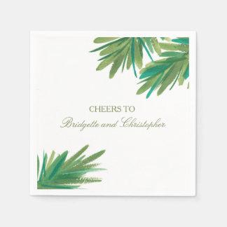 Pine Woods Watercolor   Wedding Reception Paper Napkin
