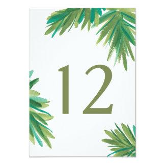 Pine Woods Watercolor | Wedding Table Number