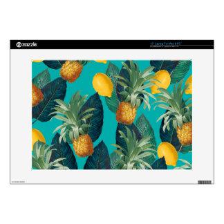 """pineaple and lemons teal skins for 15"""" laptops"""