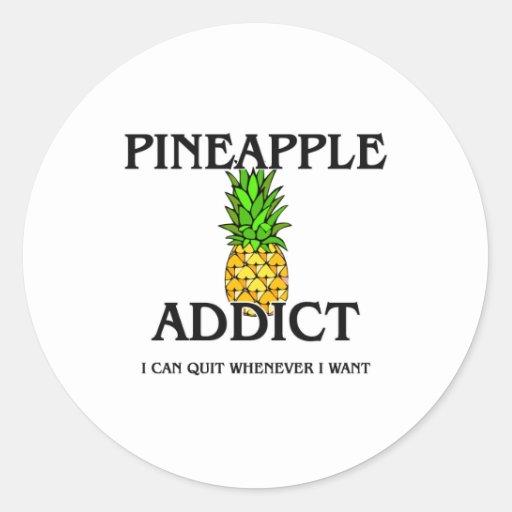 Pineapple Addict Stickers