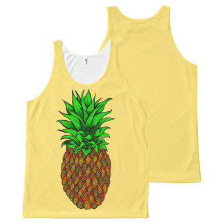 Pineapple All-Over-Print Tank Top