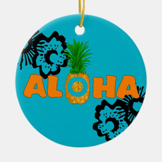 pineapple aloha beach themed christmas ornaments