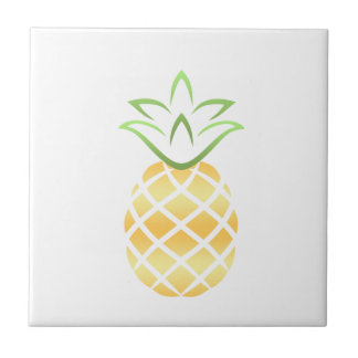 Pineapple Aloha Hawaii! Ceramic Tile