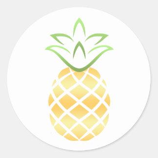 Pineapple Aloha Hawaii! Classic Round Sticker